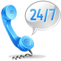 We take calls 24 hours a day 7 days a week